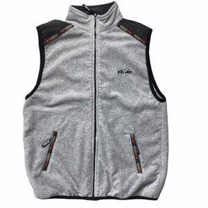 SKI-DOO Vintage Sno Gear Gray Fleece Vest Medium